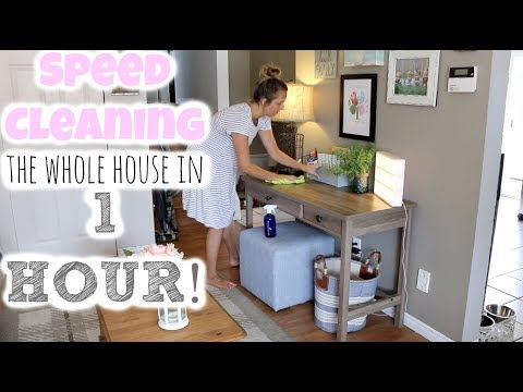 SPEED CLEANING MY HOUSE IN ONE HOUR | POWER HOUR CLEANING ROUTINE