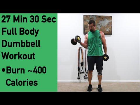Dumbbell Home Workout 27 Min 30 sec Full Body