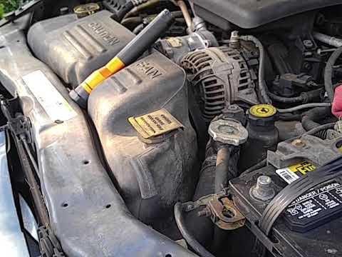 Dodge Durango 4 7 2003 Starter Removal Youtube