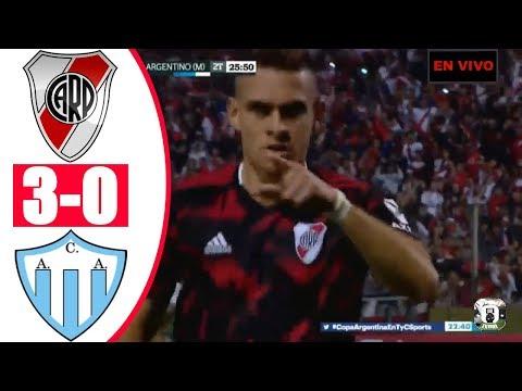 River Plate Vs Argentino de Merlo (3-0) RESUMEN GOLES | Copa Argentina 2019