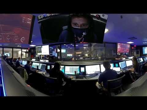 Mission Control Celebration for NASA's Perseverance Mars Rover Landing (360 Video)