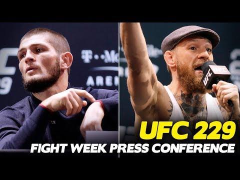 Awkward UFC 229: Khabib vs. McGregor Press Conference, Khabib Leaves Early
