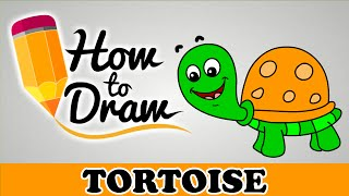How To Draw A Tortoise - Easy Step By Step Cartoon Art Drawing Lesson Tutorial For Kids & Beginners