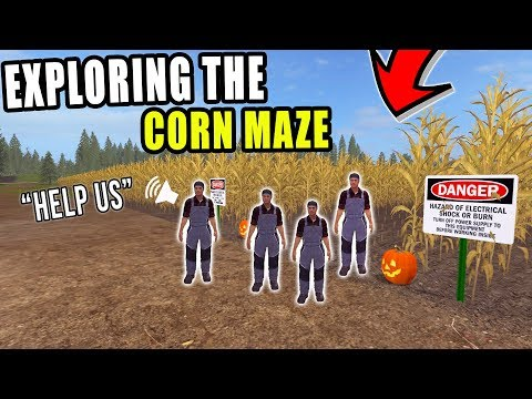 SUBSCRIBERS ENTER THE HAUNTED CORN MAZE | LIVE STREAM | FARMING SIMULATOR 2017 thumbnail