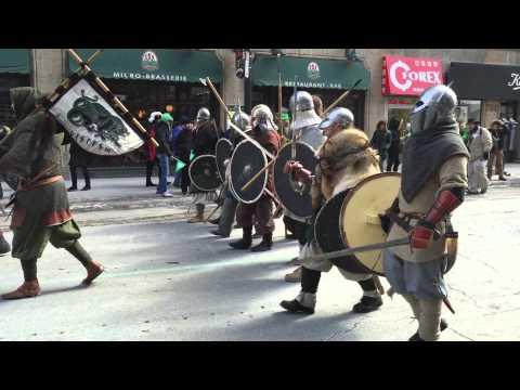 Vikings na parada de St Patrick em Montreal - 22/03/2015