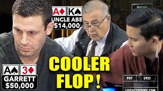 Garrett Battles Uncle Abe on Cooler Flop ♠ Live at the Bike!