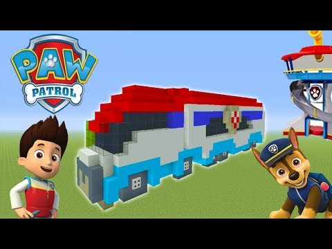 "Minecraft Tutorial: How To Make The Paw Patroller ""Paw Patrol"""