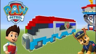 """Minecraft Tutorial: How To Make The Paw Patroller """"Paw Patrol"""""""