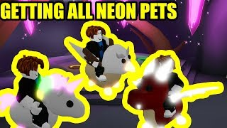 I GOT EVERY NEON PET in Adopt Me Roblox