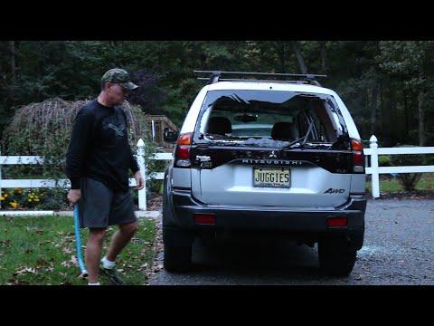Psycho Dad Wrecks Car