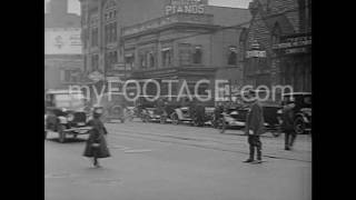1920s Pedestrian Traffic in New York City Times Square