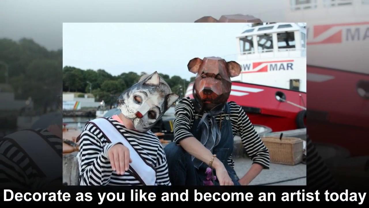 Masquerade masks, Halloween masks, How to make paper animal mask, DIY  animal masks