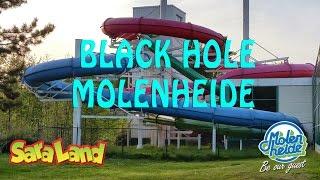 Blauwe gijbaan, Black hole on-slide Moleheide