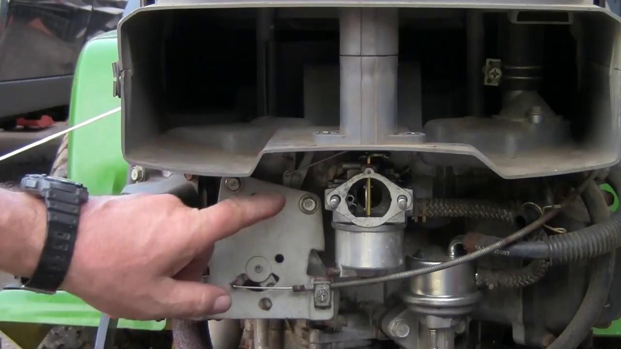 John Deere carbuetor removal