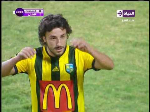لقطة طرد لاعبين في مباراة الاهلي والمقاولون العرب HD