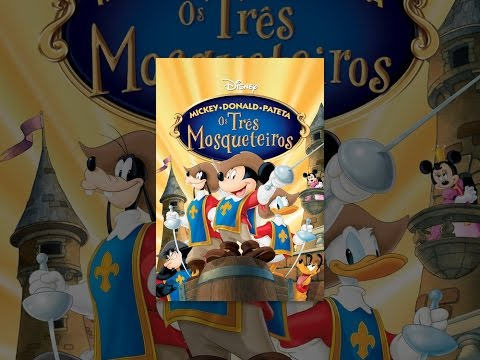 Mickey. Donald e Pateta em Os Três Mosqueteiros Dublado