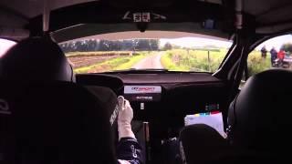 On board De Cecco-Humblet 208R2 Geko Ypres Rally 2013