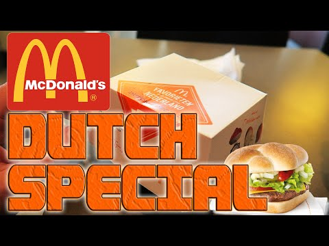 McDonalds Netherlands: Dutch Special burger fast food review Holland