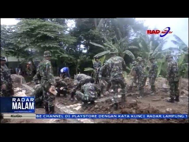 Hunian Sementara Korban Tsunami Lampung Selatan Mulai Di Bangun