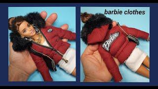 바비인형 옷만들기(빨간패딩점퍼)-barbie cloth…