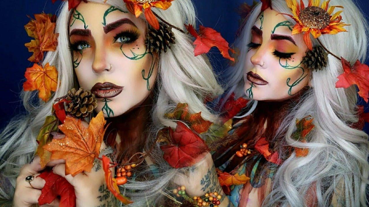 Fall queen makeup tutorial fairy halloween youtube fall queen makeup tutorial fairy halloween baditri Image collections