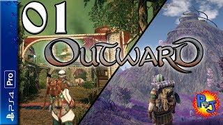 Let's Play Outward PS4 Pro | Split Screen Co-op Multiplayer | Gameplay Episode 1 (P+J)
