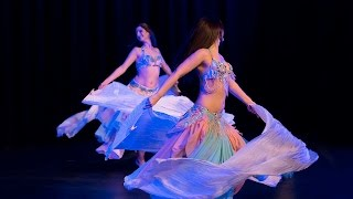 Candice Frankland and Vanessa Castro of Phoenix Belly Dance perform Fan Veil Duet