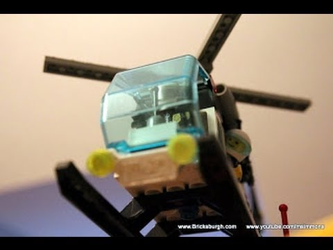 Lego Police Helicopter How To Build Air Patrol Bricksburgh