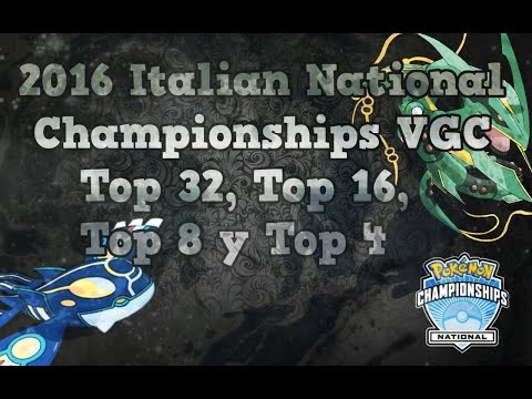 2016 Italian National Championships VGC Top 32,16,8,4