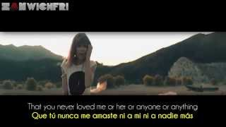 Repeat youtube video Taylor Swift ~ I Knew You Were Trouble (Lyrics Sub. Spanish/Español) [HD] Official Video