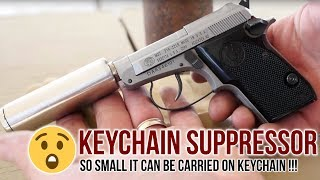 Keychain Suppressor  Beretta 21A Hush Puppy  Armtacs Covert Suppressor