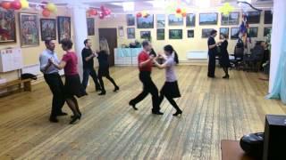 Танцы для взрослых. Начинающие. Медленный вальс. ч.1 дата 02.02.2014