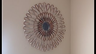 Metallic Starburst Mirror Wall Art Decor out of Upcycled Cereal Boxes