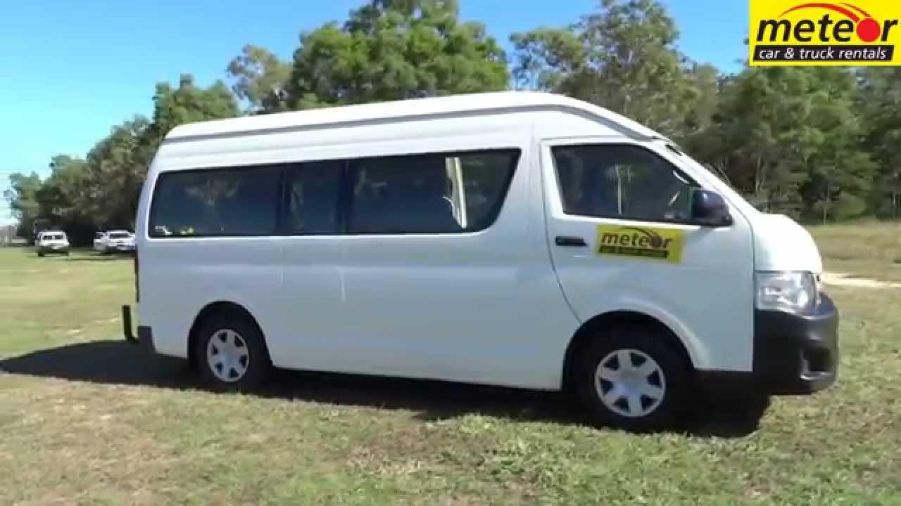 251ef4feb8 U1920 Toyota Commuter 12 seat Meteor Car and Truck rentals Cairns Mackay  Townsville Mt Isa