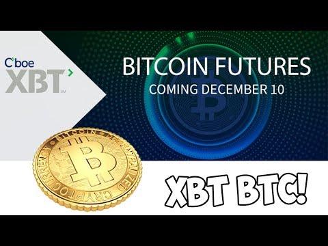 BITCOIN FUTURES XBT BEGIN TRADING TODAY!!! (CHICAGO BOARD)