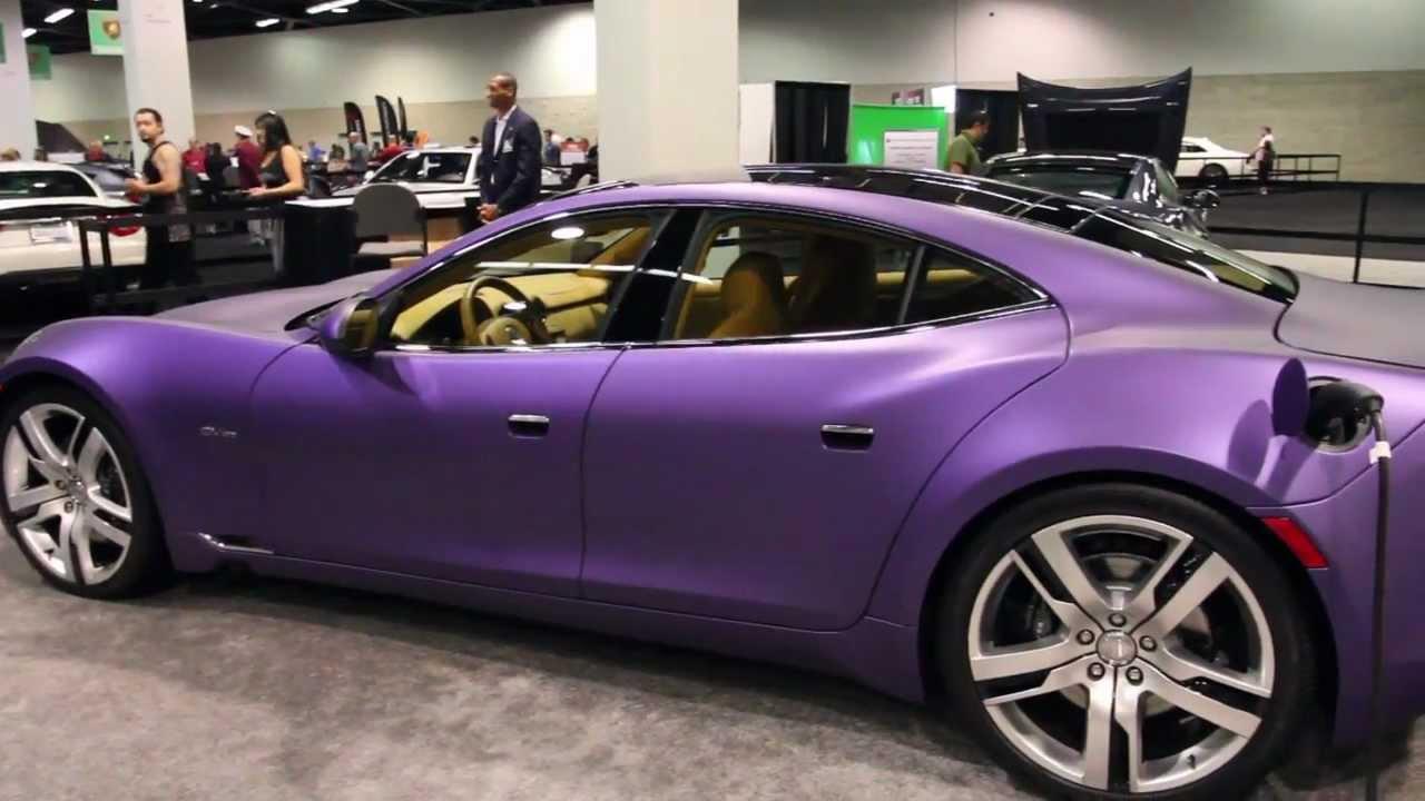 Car Paint Colors >> Matte Purple Fisker Karma at the O.C. Auto Show, 2012 ...
