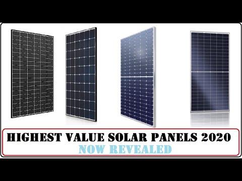 Highest Value Solar Panels in 2020. [List Revealed]