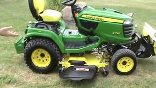 2013 John Deere X738 Lawn And Garden Tractor With Snow Blade For Sale