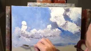 James Pratt Online Palette Knife Painting Academy, FREE Painting Basic Skies and Clouds