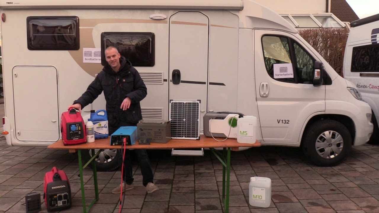 Autarke Stromversorgung Wohnmobil Brennstoffzelle Solar Ladebooster  Wechselrichter Notstromaggregat