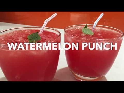 WATERMELON PUNCH **alcoholic /non Alcoholic**