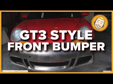 GT3 STYLE BUMPER install on a Porsche Boxster 986 (KBD Polyurethane)