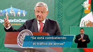 El presidente Andrés Manuel López Obrador detalló que en un decomiso en los límites de Nayarit y Jalisco se encontraron armas de la Guardia Nacional que se habían sustraído en la presa La Boquilla, en Chihuahua
