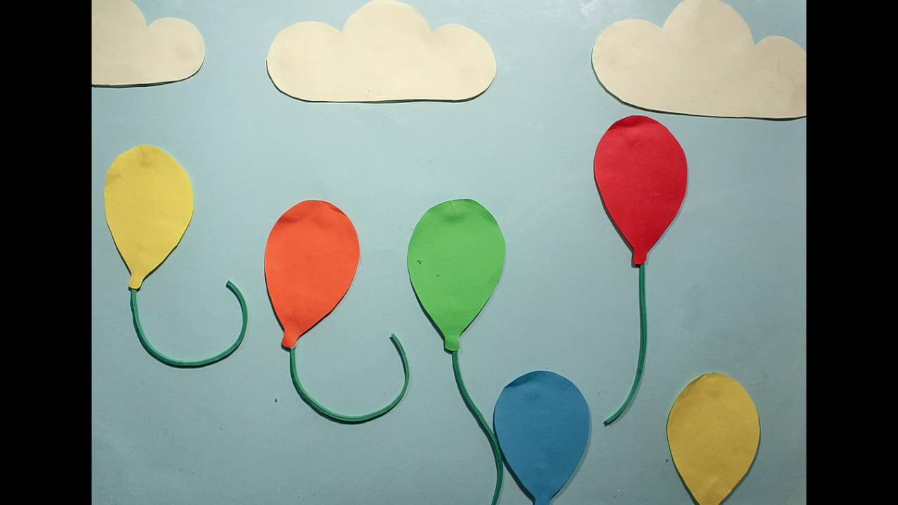 Balloons (Cut Paper Stop Motion Animation)