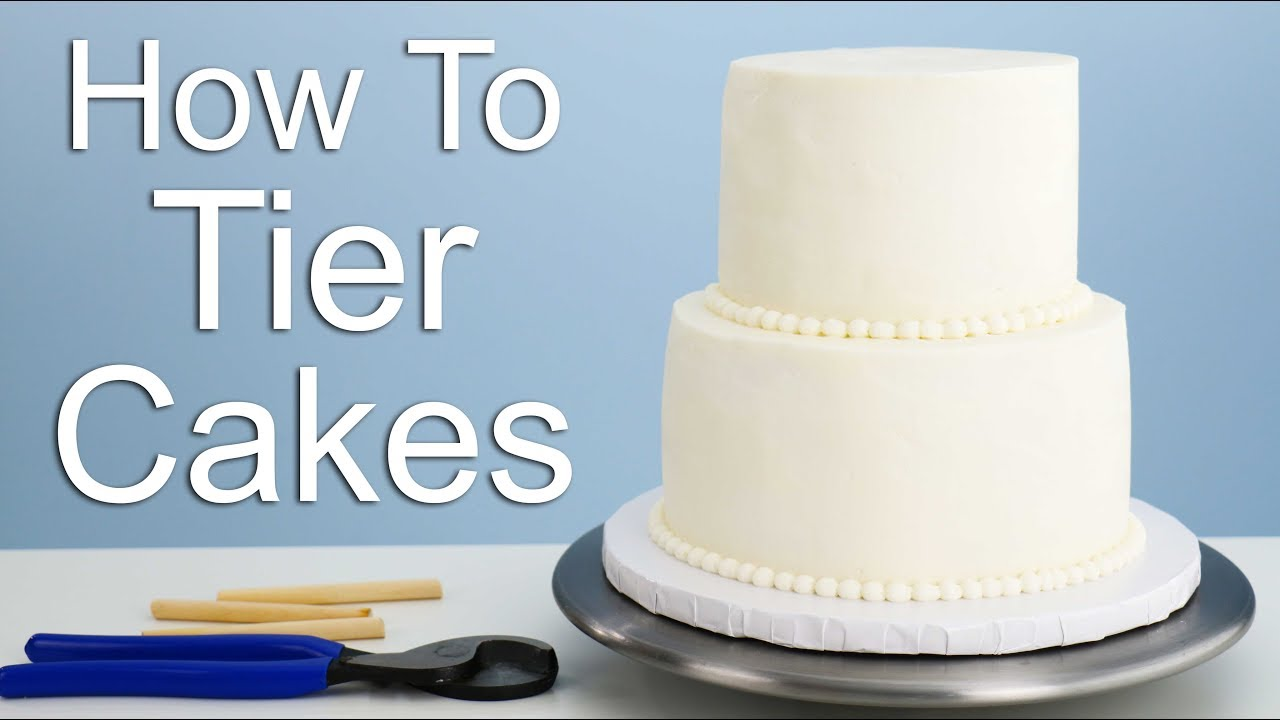 The EASIEST way to Tier a Cake!