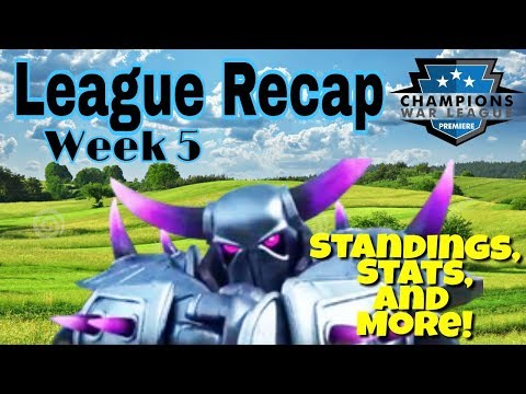 CWL Premiere League Recap | New Time Stamps! | Week 5