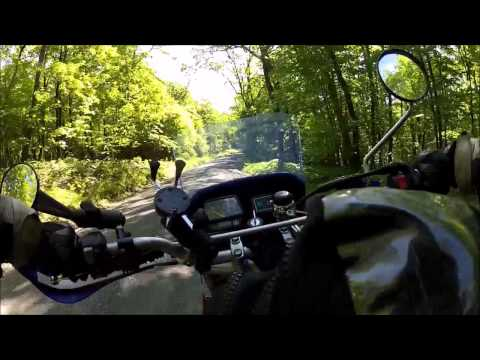 tw200 dual sport ride with a klr buddy, bald eagle state forest pa, 6 6 2014, gopro long