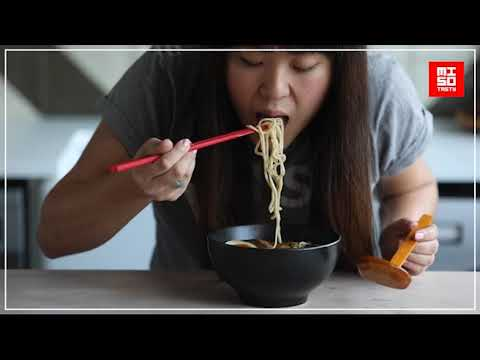 Noodle slurping - How To Master Eating Ramen with Miso Tasty