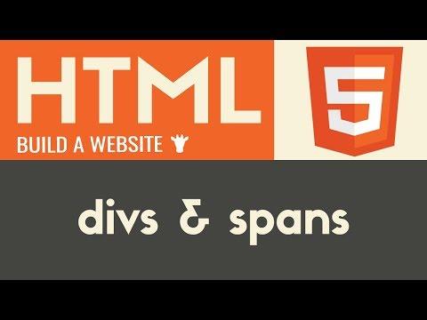 Divs & Spans | HTML | Tutorial 13