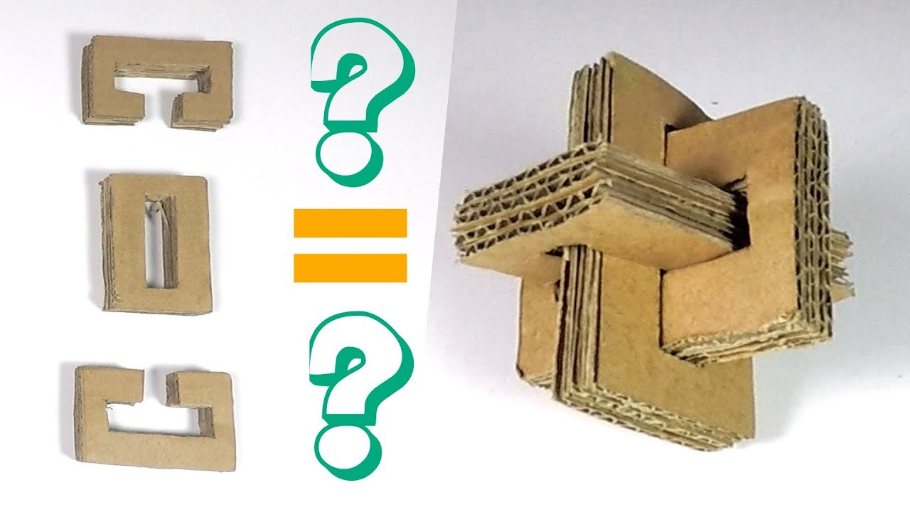 How to Make a Cross Puzzle from Cardboard - Cardboard Puzzle - YouTube